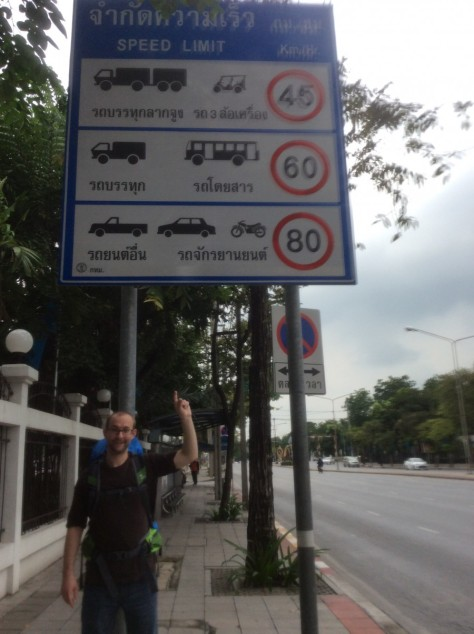 Speed Limit Sign in Bangkok
